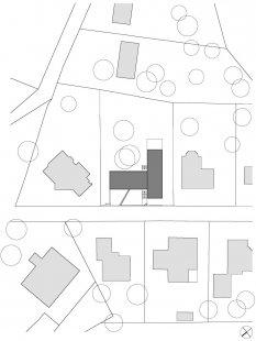 Rodinný dům v Dobřichovicích - Situace