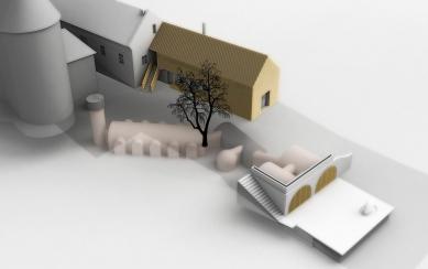 Café fara - Dostavba chlívku a sklepní prostory - foto: Atelier Štěpán