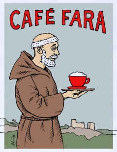Café fara - Logo - foto: Atelier Štěpán