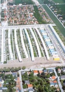 Obytný soubor Pilotengasse - Letecký pohled na areál