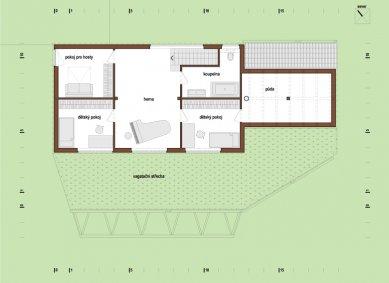 Rodinný dům Vrátkov - Půdorys patra