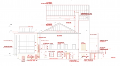 Rekonstrukce Domu umění města Brna - Východní fasáda