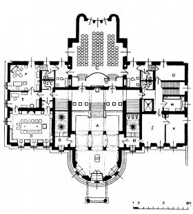 Rekonstrukce Domu umění města Brna - Půdorys přízemí - stav na začátku 20. století - foto: C. H. Ried