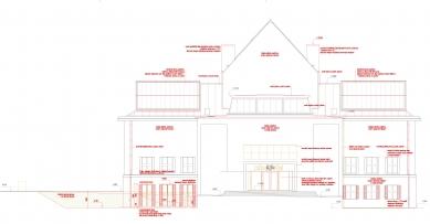 Rekonstrukce Domu umění města Brna - Jižní fasáda