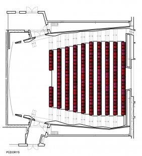 Rekonstrukce kina Hvězda - Půdorys - foto: Vít Branda