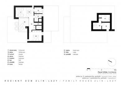 Rodinný dům Zlín - Lazy - 2NP a 1PP - foto: Pavel Míček Architects