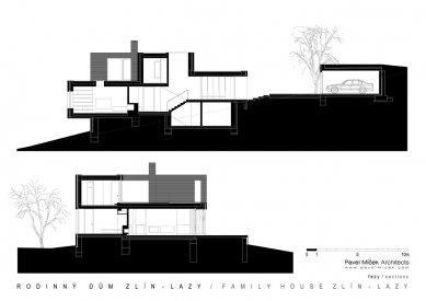 Rodinný dům Zlín - Lazy - Řezy - foto: Pavel Míček Architects