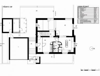 Rodinný dům v Lysé nad Labem - 1NP - foto: New Work