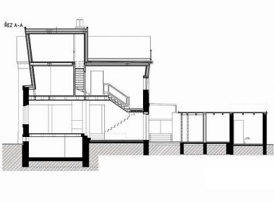 Rodinný dům v Lysé nad Labem - Řez - foto: New Work