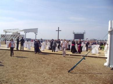 Areál mše Benedikta XVI. v Brně - Pohoštění