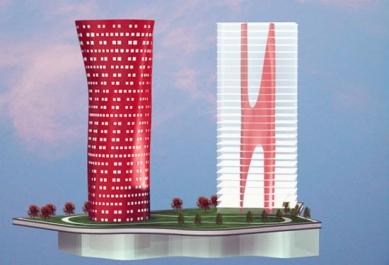 Porta Firá Towers - Vizualizace - foto: Toyo Ito and Associates, Architects