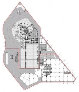 Porta Firá Towers - Půdorys přízemí - foto: Toyo Ito and Associates, Architects