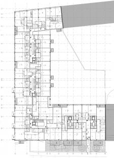 Rezidence Sacre Coeur - Typický půdorys - foto: 4A architekti
