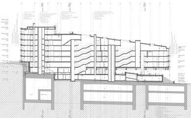 Rezidence Sacre Coeur - Řez - foto: 4A architekti