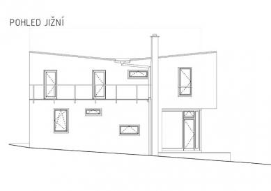 Rodinný dům v Bílovicích nad Svitavou - Pohled jižní - foto: New Work