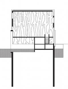 Nordwesthaus - lodní pavilon - Podélný řez - foto: Baumschlager & Eberle