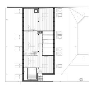 Dvoupodlažní podkrovní byt v Litoměřicích - Půdorys - současný stav