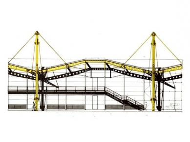 Renault Distribution Centre - Pohled na jedno konstrukční pole - foto: © Foster and Partners