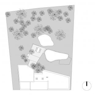 Letní dům s vinotékou - Situace