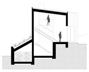 Letní dům s vinotékou - Řez AA