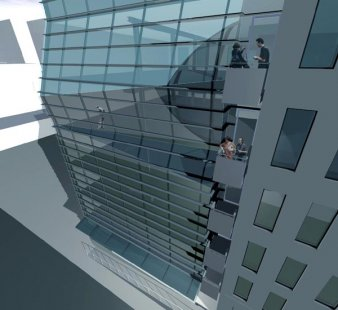 Greenwich Street Project - Vizualizace fasády - foto: Archi-Tectonics