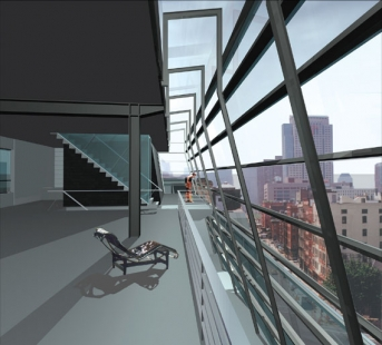 Greenwich Street Project - Vizualizace interiéru - foto: Archi-Tectonics