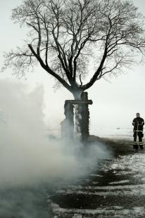 U kamenného kříže - Z průběhu realizace - foto: Ivo Pavlík