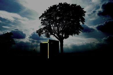 U kamenného kříže - Noční vizualizace - foto: Ivo Pavlík