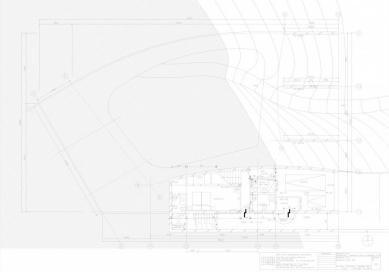 Dům O - Půdorys suterénu - foto: Toyo Ito and Associates, Architects