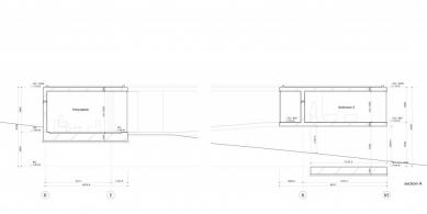 Dům O - Řez A - foto: Toyo Ito and Associates, Architects