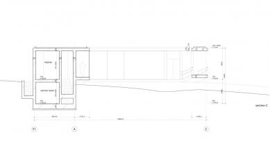Dům O - Řez C - foto: Toyo Ito and Associates, Architects