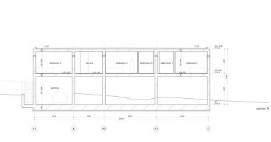 Dům O - Řez D - foto: Toyo Ito and Associates, Architects