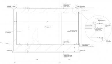 Dům O - Detailní řez - foto: Toyo Ito and Associates, Architects
