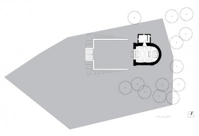 Obnova Kaple svatého Rocha - Situace - foto: knesl + kynčl architekti