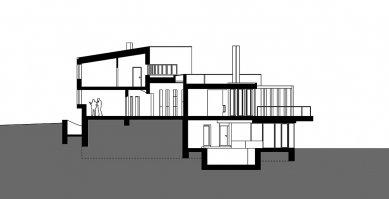 Rodinný dům Svinošice 02 - Řez AA - foto: knesl + kynčl architekti