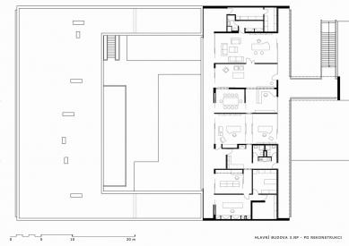 Rekonstrukce Zastupitelského úřadu České  republiky v Brasílii - Hlavní budova - 3NP