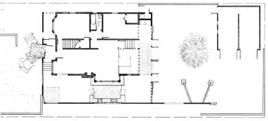 Dům Gehry - Půdorys přízemí - foto: Frank O. Gehry & Associates, Inc.