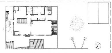 Dům Gehry - Půdorys 1.np - foto: Frank O. Gehry & Associates, Inc.