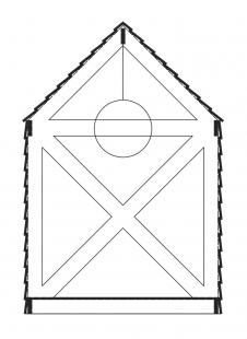 Čajový dům Muštelka - Řez - foto: H3T architekti