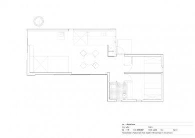 Dům Skybox - Půdorys přízemí - foto: Primus architects, atelier + production