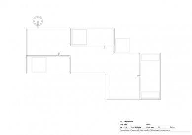 Dům Skybox - Výkres střechy - foto: Primus architects, atelier + production