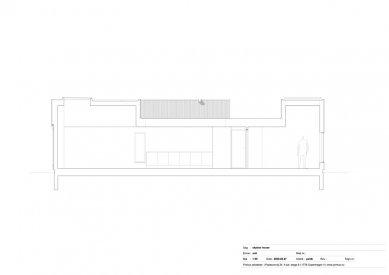Dům Skybox - Řez C - foto: Primus architects, atelier + production