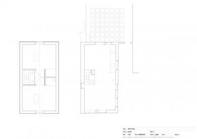 Schodišťový dům - Půdorysy - foto: Primus architects, atelier + production