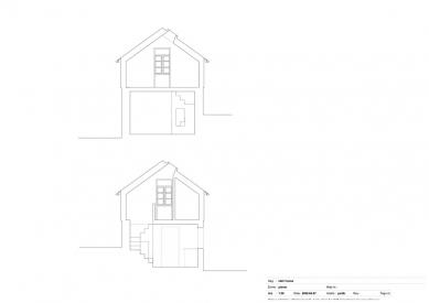Schodišťový dům - Řezy - foto: Primus architects, atelier + production