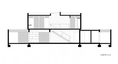 BFL House - Řez - foto: Cristián Berríos Arquitectos