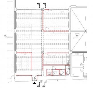 Vlastní prostory architektonického ateliéru Rala - Půdorys