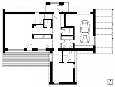 Rodinný dům Polnička - Přízemí