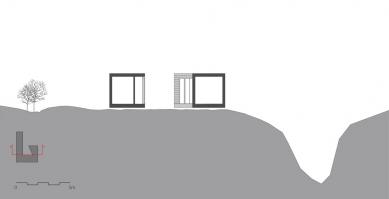 Letní dům na ostrově Hvaler - Řez - foto: Reiulf Ramstad Architects