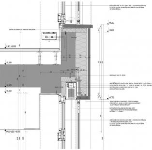 Administrativní centrum Triniti - Vzorový detail kamenné fasády
