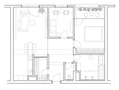 Interiér bytu Prosecká Vyhlídka - Půdorys